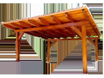 Porche de madera.