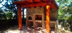 Modulo horno y barbacoa en piedra